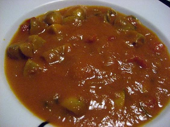 Receta para preparar Salsa de Tomate y Hongos