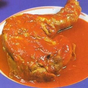 Salsa con pollo